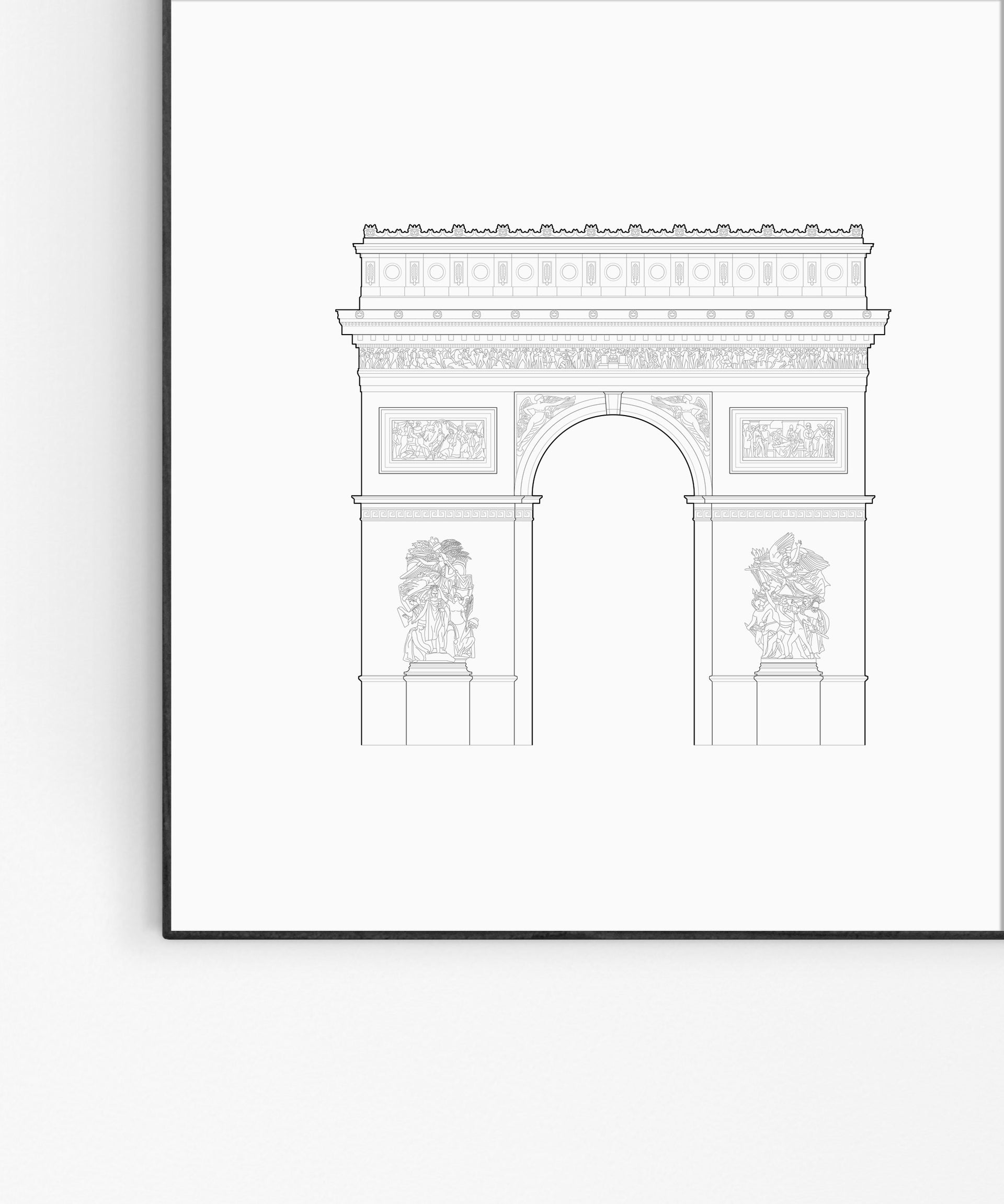 Arc de Triomphe elevation