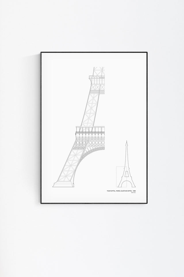 The Eiffel Tower Architecture Print by Studio Romuu - Feature