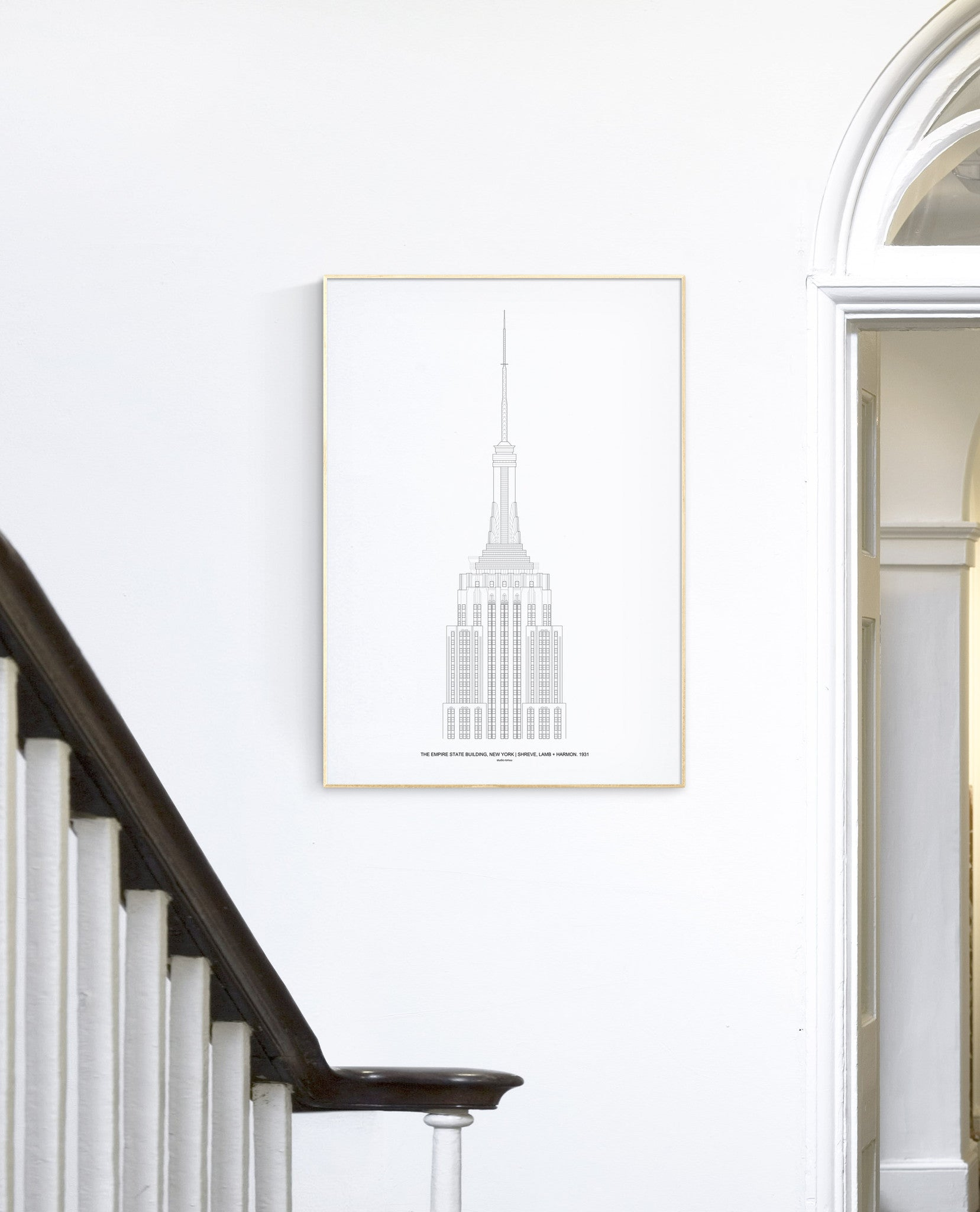 The Empire State Architectural Print - Interior