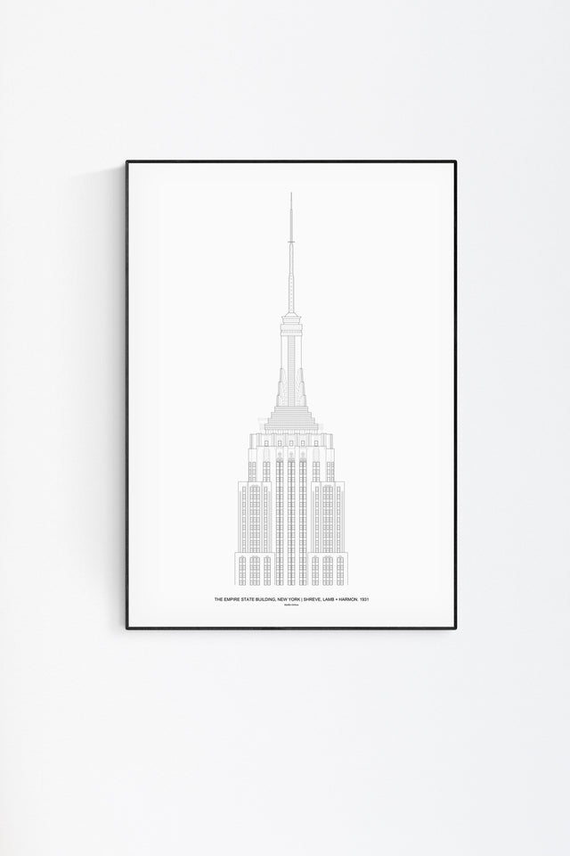 The Empire State Architectural Print - Feature