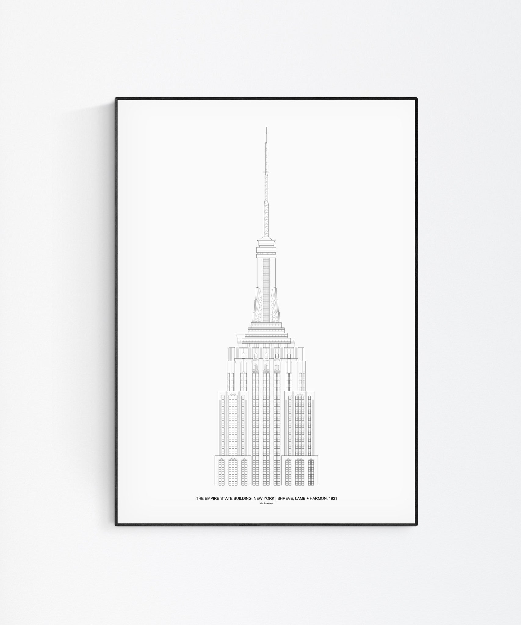 The Empire State Architectural Print - Wall Art