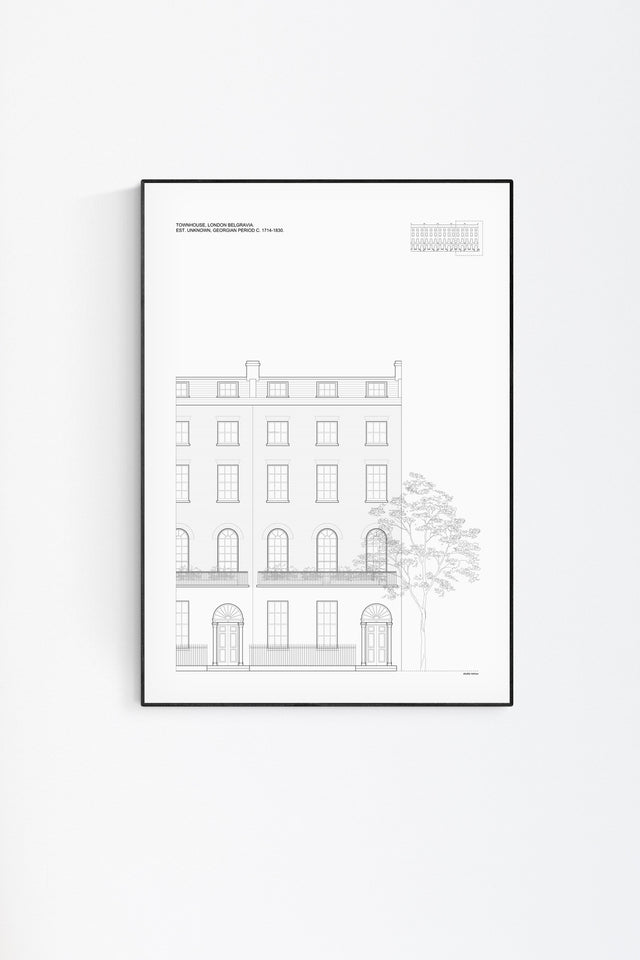 London Townhouse Architectural Print - Elevation