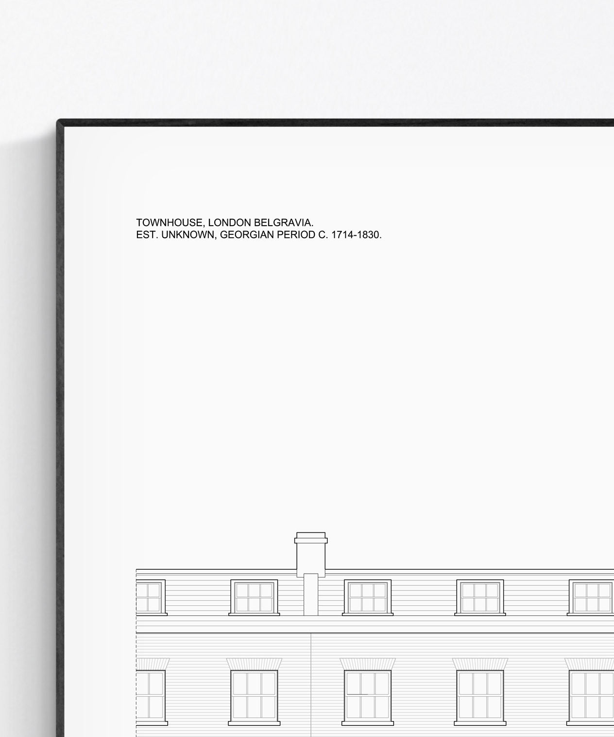 London Townhouse Architectural Print - Detail