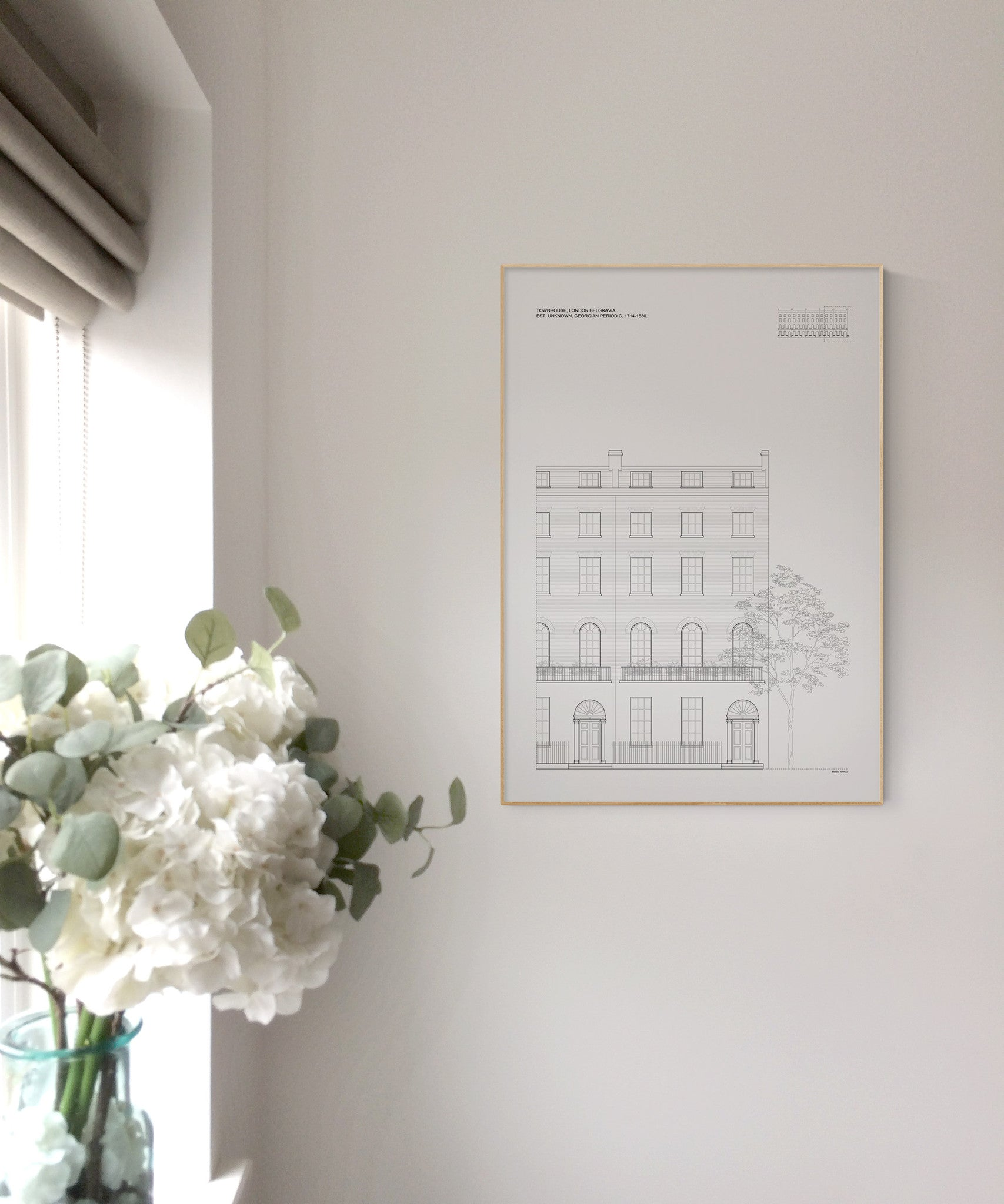 London Townhouse Architectural Print - Interior