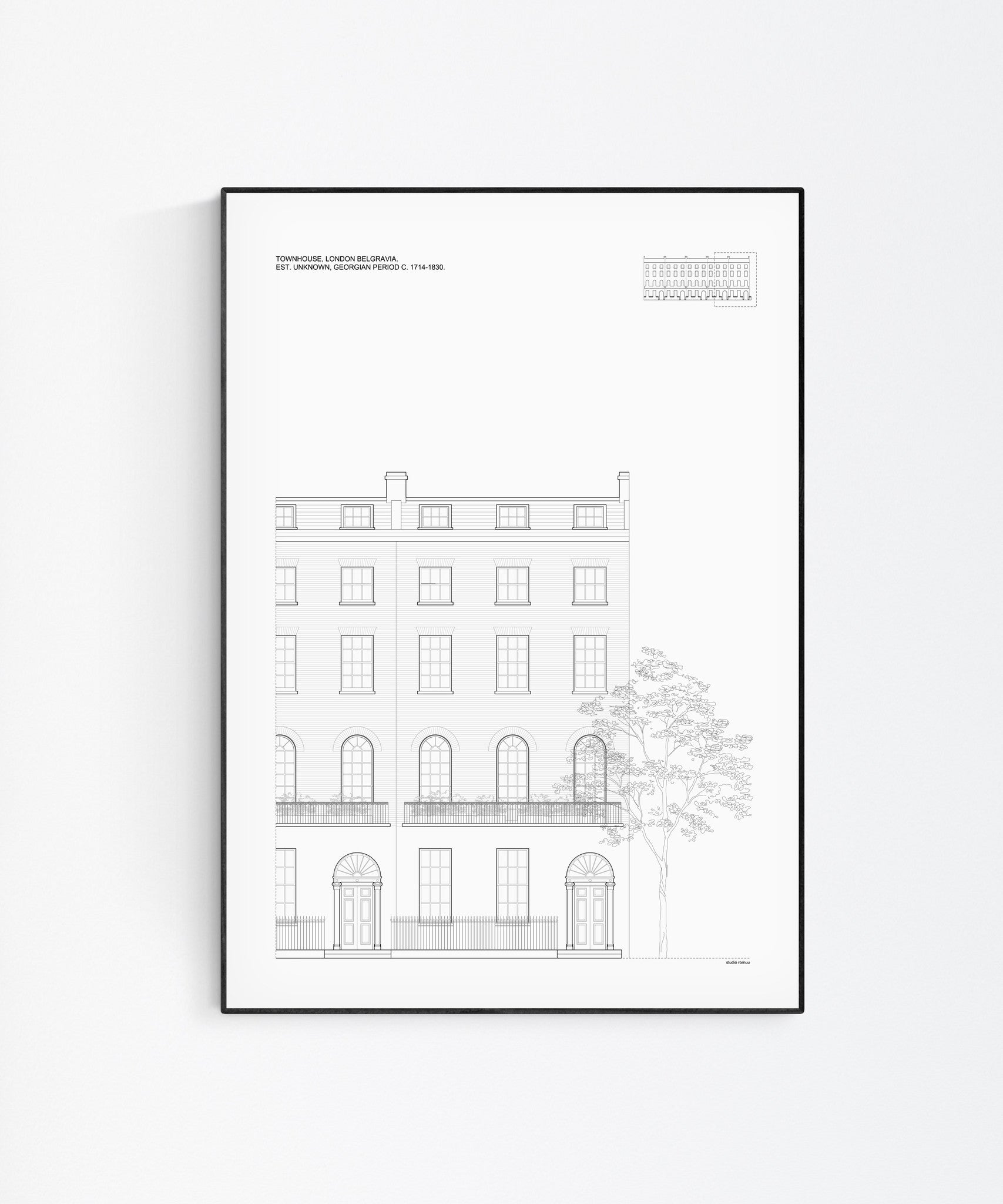 London Townhouse Architectural Print - Wall Art