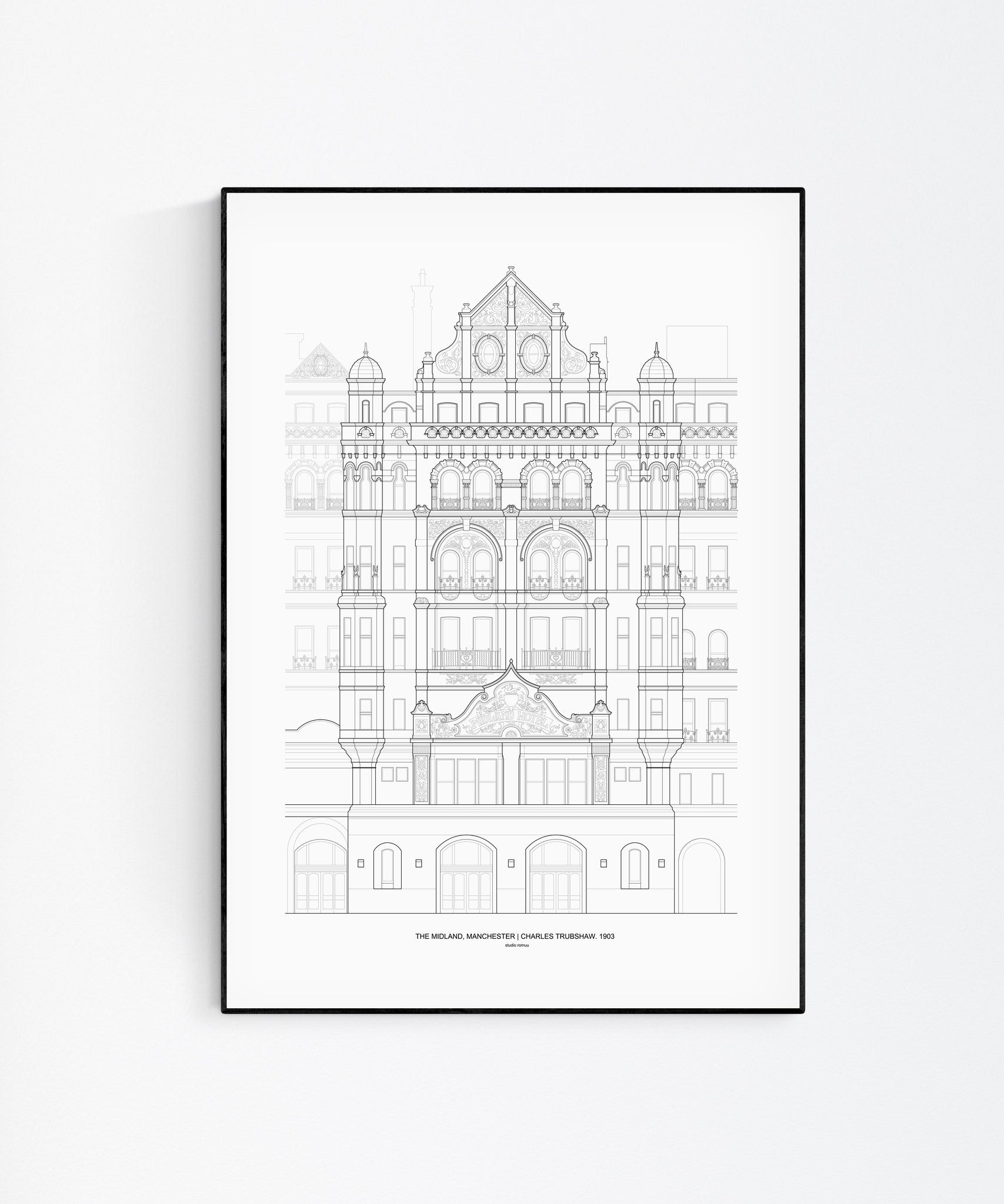The Midland Hotel Architecture Print - Wall Art