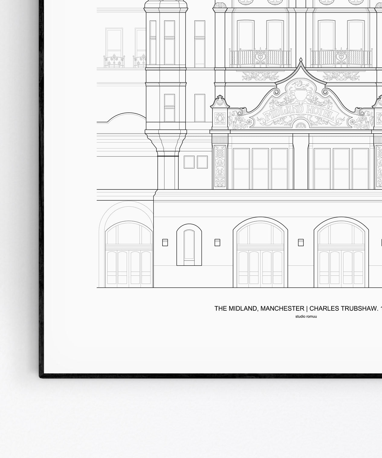The Midland Hotel Architecture Print - Detail