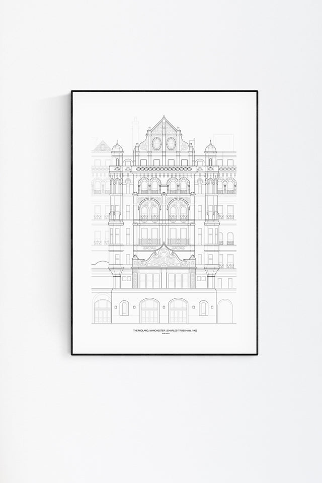 The Midland Hotel Architecture Print - Feature