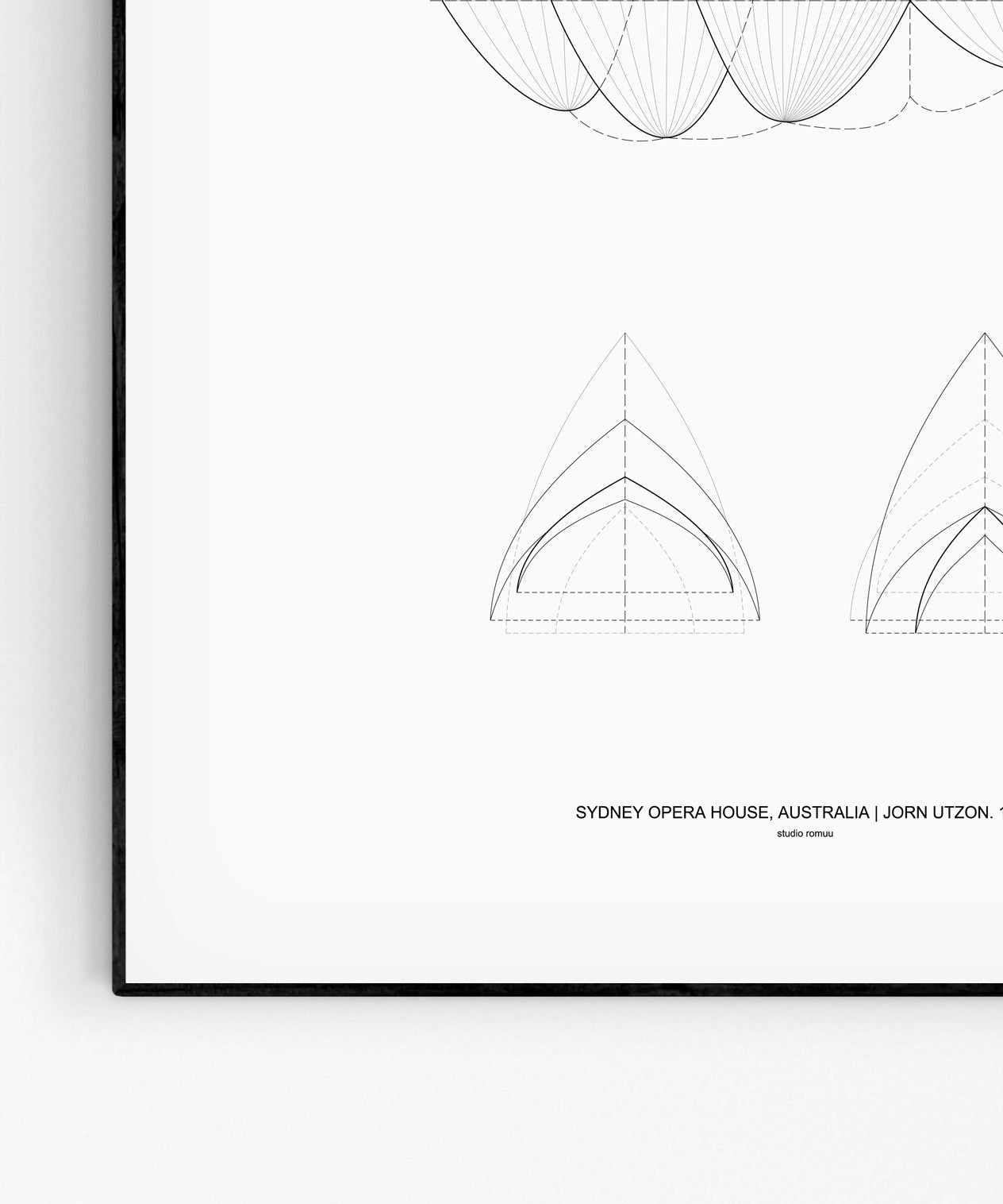 Sydney Opera House Architecture Print by Studio Romuu - detail