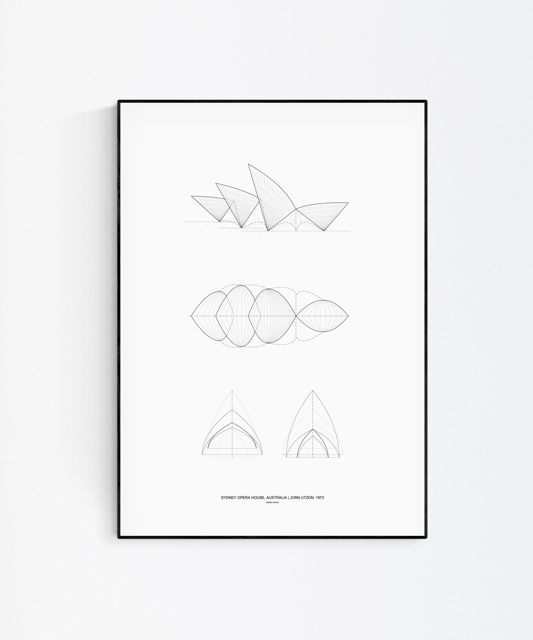 Sydney Opera House Architecture Print by Studio Romuu - Wall art