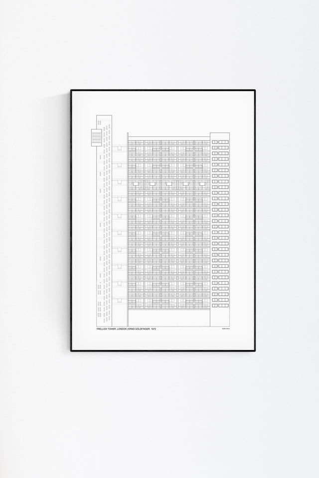 Trellick Tower Architecture Print by Studio Romuu - Feature