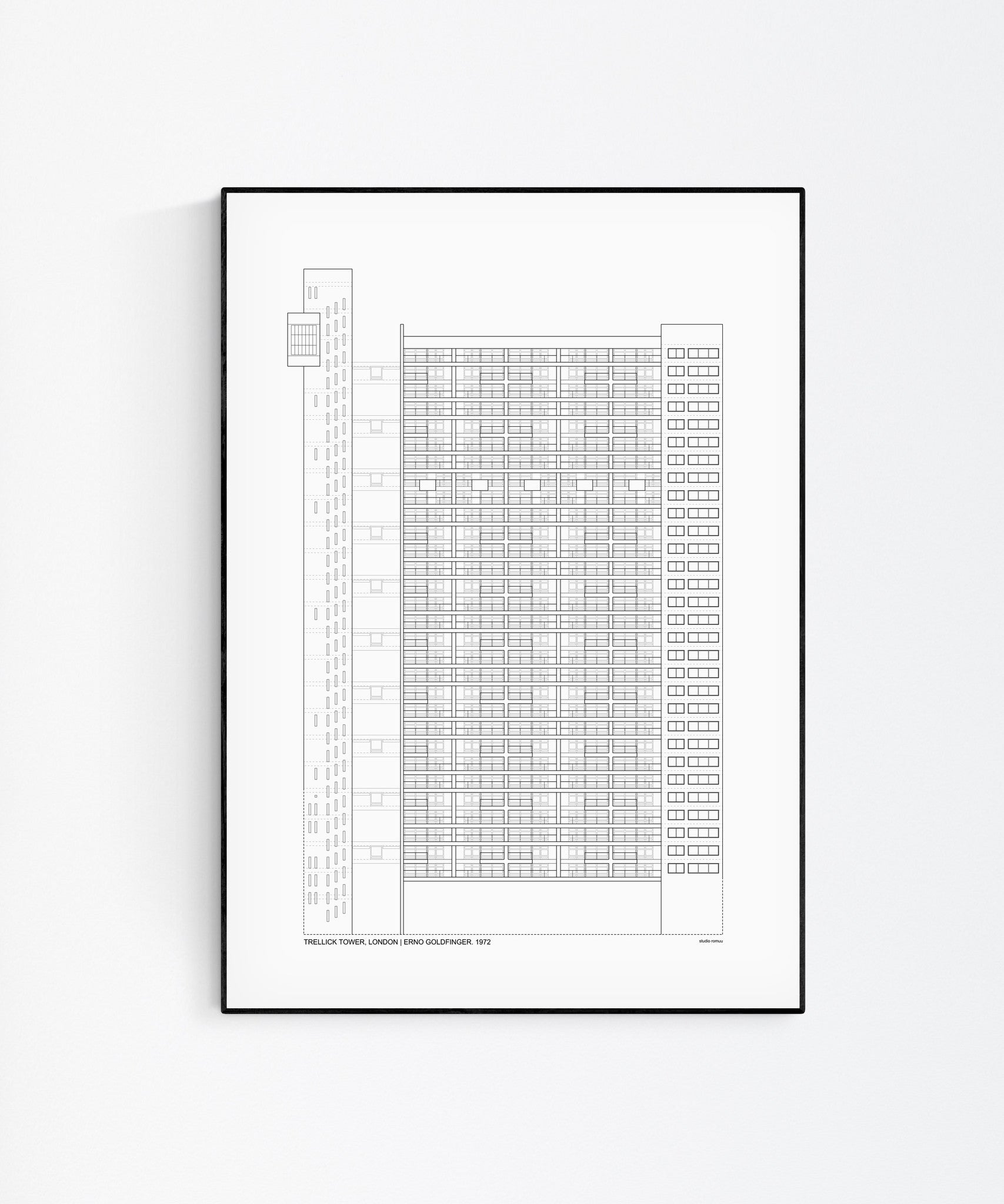 Trellick Tower Architecture Print by Studio Romuu - Wall Art