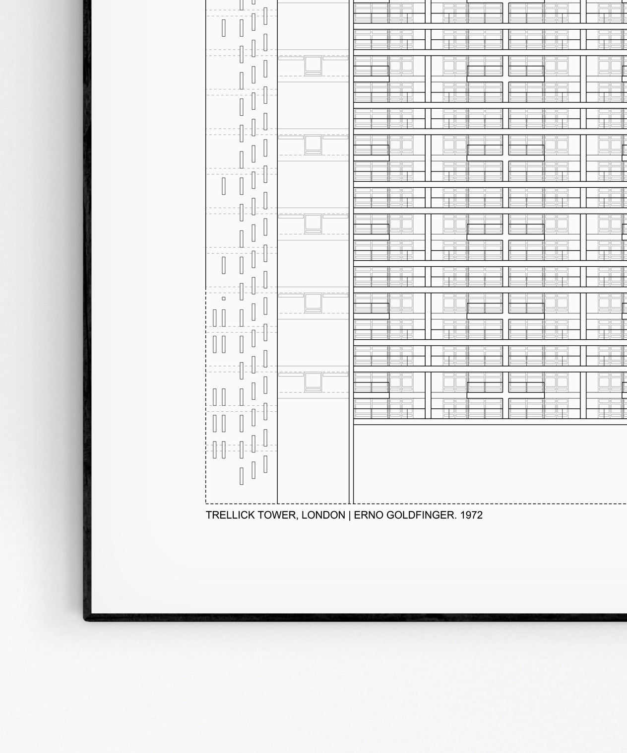 Trellick Tower Architecture Print by Studio Romuu - Detail