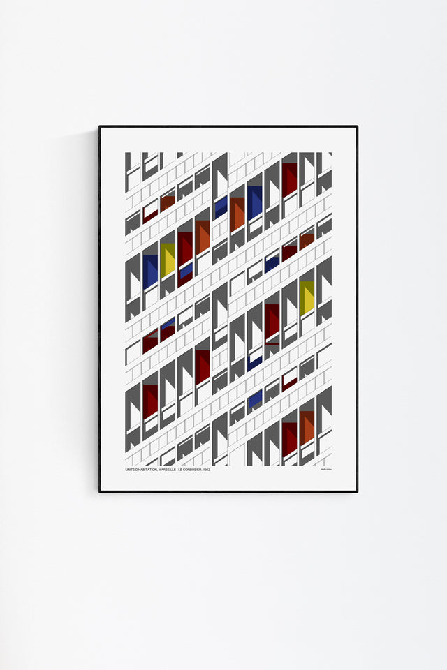 Unite d'habitation print by studio romuu