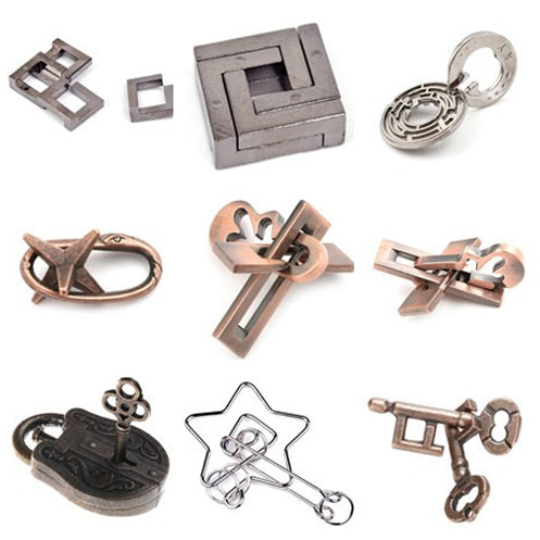 1pcs 1PCS Metal Unlocked Maze Puzzle Labyrinth IQ Mind Brain Teaser Educational Toy Gift Game For Children Kids