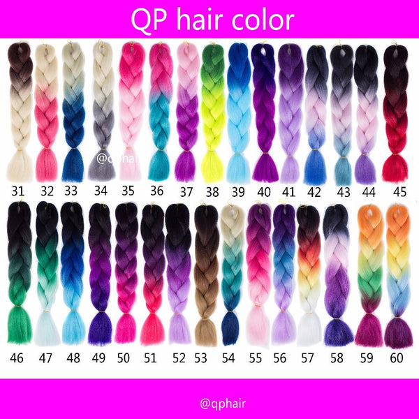 Hair Extension Expression Pre Braiding Hair Synthetic
