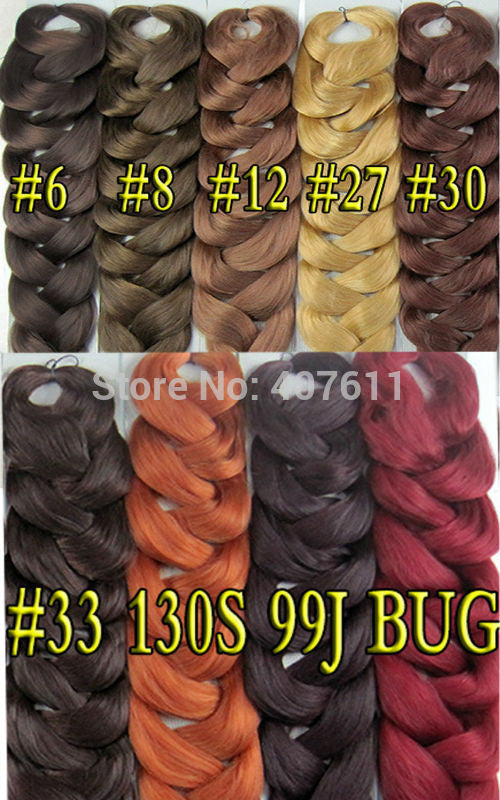 Xpression Braid Hair Extension Color6 Braid Ultra Braid Color 8 Afro Super Jumbo Braid 20colors Available 3packslot