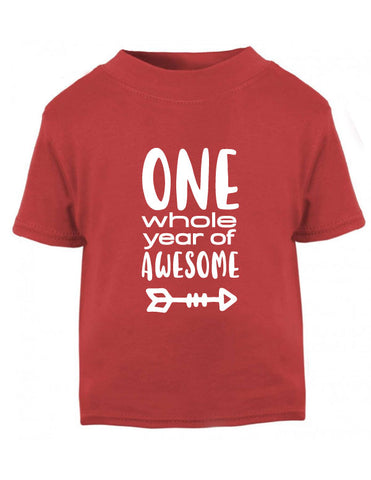 One Year of Awesome First Birthday T-Shirt