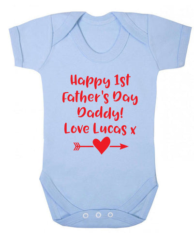 Personalised First Father's Day Babygrow