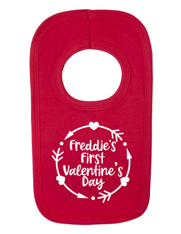 Personalised 1st Valentine's Day Bib