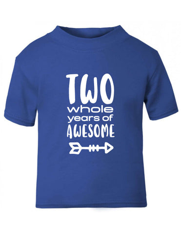 Two Years of Awesome 2nd Birthday T-Shirt