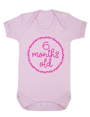 6 Months Old Milestone Baby Grow