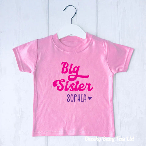 Personalised Big Sister T-Shirt