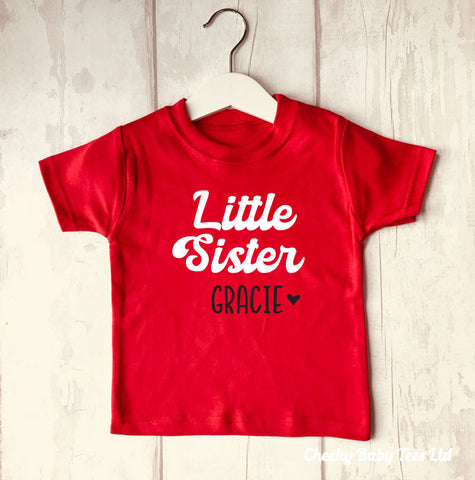Personalised Little Sister T-Shirt