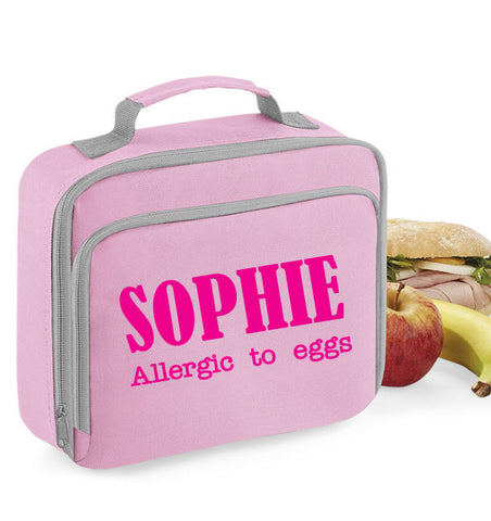 Personalised Allergy Alert Lunch Bag