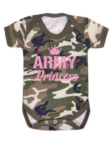 Army Princess Baby Grow