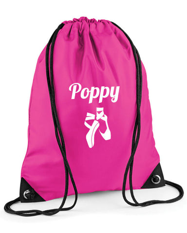 Personalised Ballet Kit Drawstring Bag