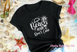 Beach Hair Don't Care Ladies' T Shirt