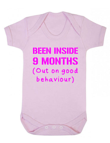 Been Inside 9 Months Funny Babygrow