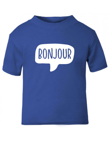 Bonjour Hello French Baby T-Shirt