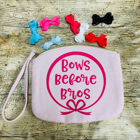 Bows Before Bros Hair Clip Pouch Bag