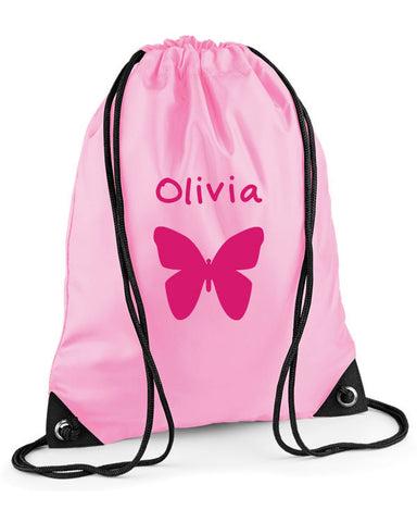 Personalised Butterfly Swimming Bag