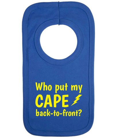 Cape Back To Front Baby Bib