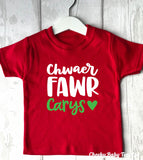 Personalised Welsh Big Sister T-Shirt