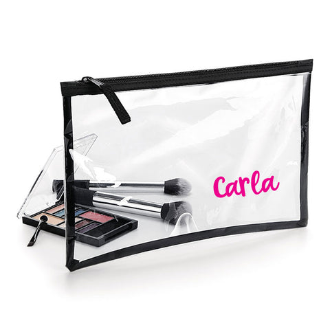 Personalised Name Clear MakeUp Bag