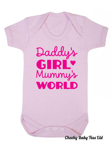 Daddy's Girl Mummy's World Baby Grow