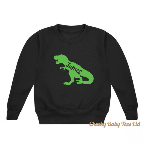 Personalised Dinosaur Kids' Sweatshirt