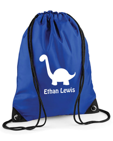 Personalised Dinosaur Swimming Bag