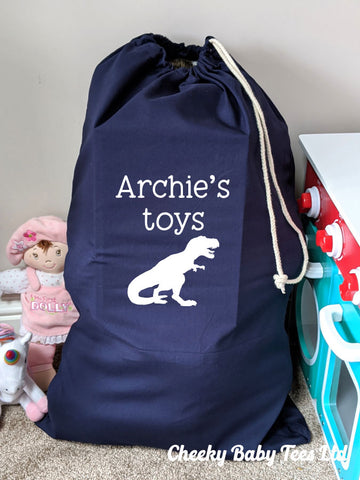 Dinosaur Personalised Toy Sack