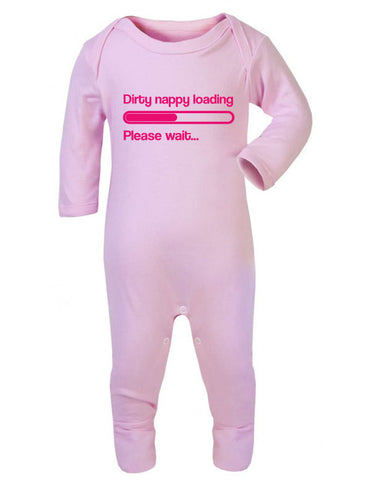 Dirty Nappy Loading Sleepsuit