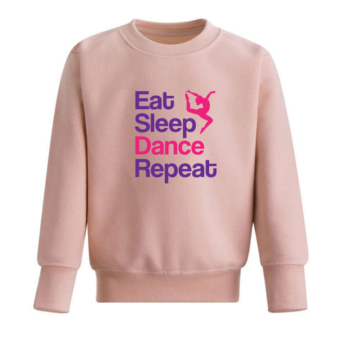 Eat Sleep Dance Repeat Kids' Sweatshirt
