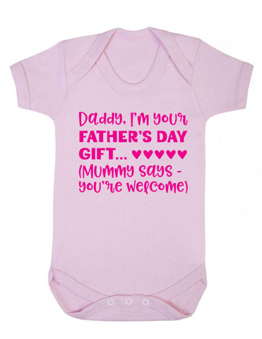 Funny Father's Day Gift Babygrow