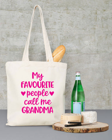 My Favourite People Call Me Grandma Tote Bag