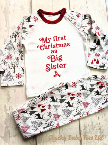 First Christmas as Big Sister Pyjamas