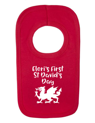 Personalised 1st St David's Day Bib