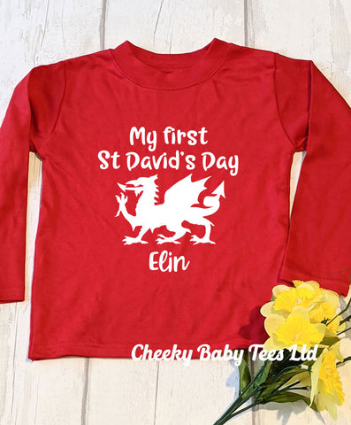 First St David's Day Welsh T-Shirt